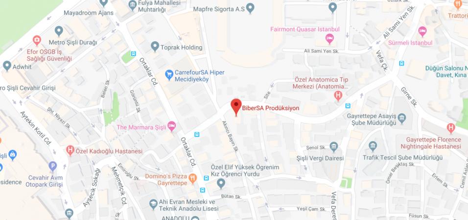BiberSA Prodüksiyon Maps
